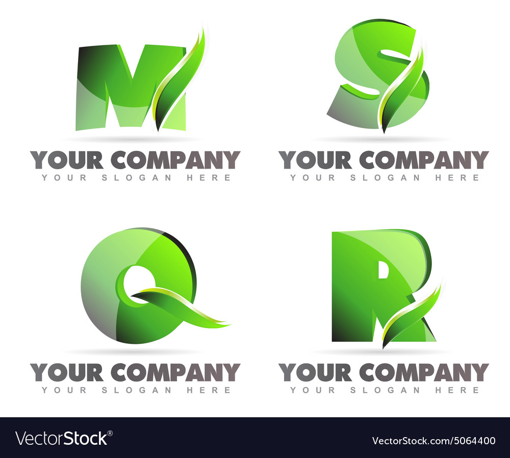 Alphabet letters logo icons