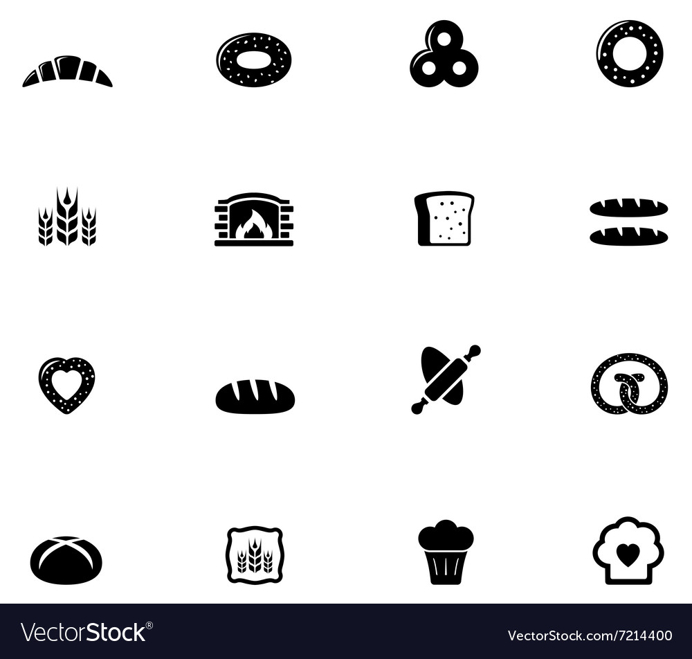 Bakery and bread object set
