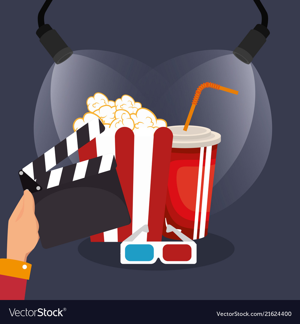 more photos b3878 6bb1f Clapper cinema production icons vector image