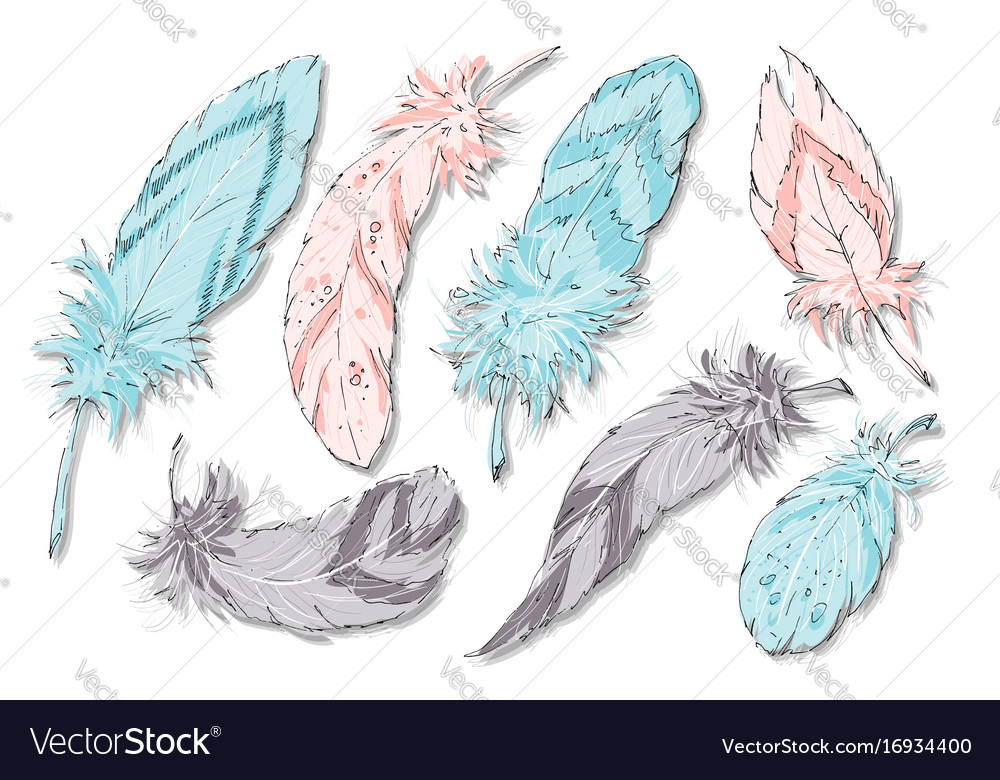 Ethnic feathers seamless background bohemian