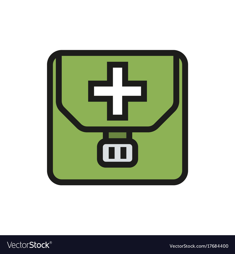 First aid kit icon on white background