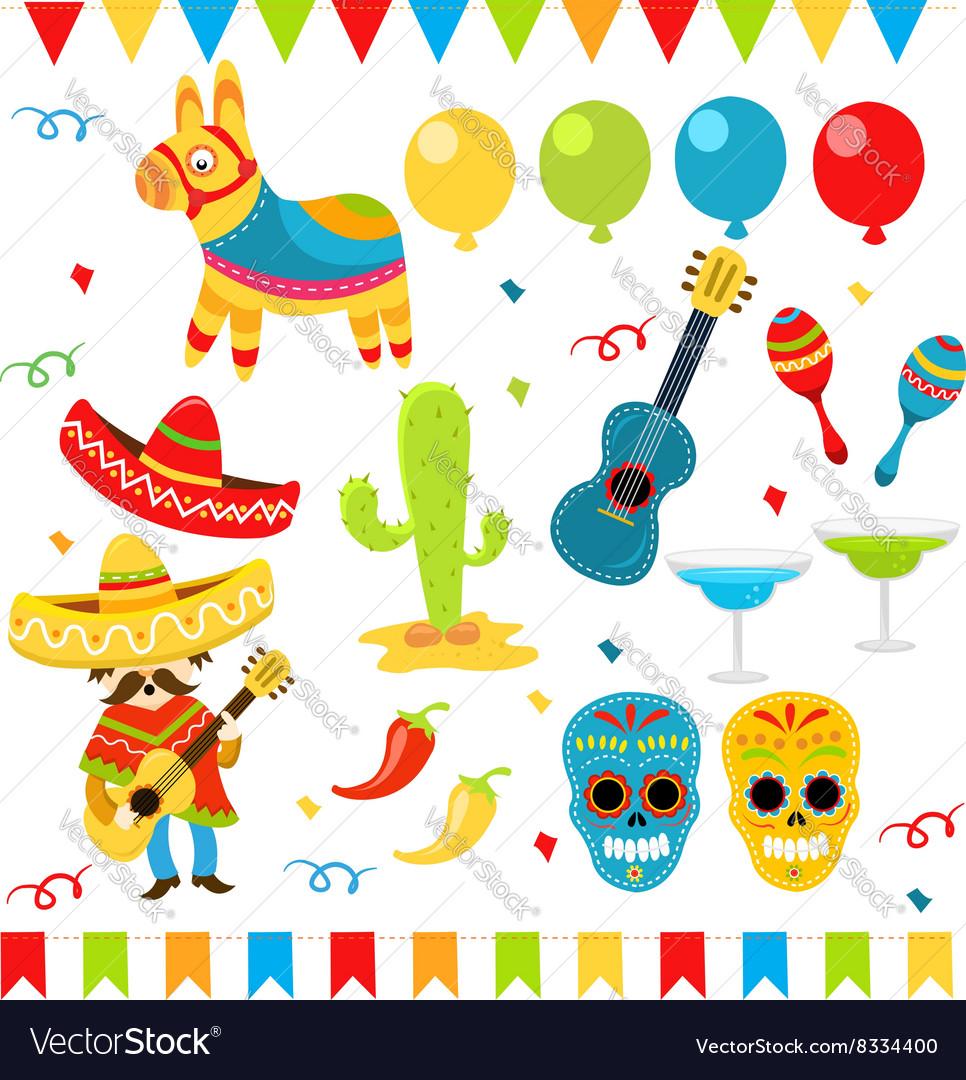 Mexican Design Elements vector image