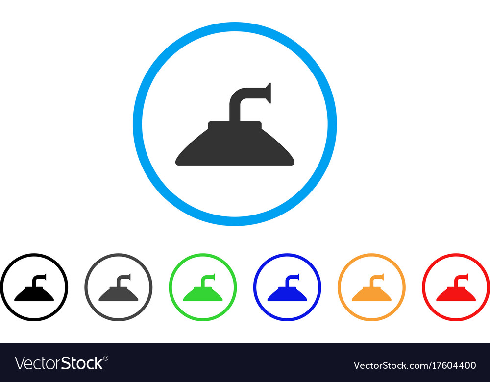 Shower Head Rounded Icon Royalty Free Vector Image