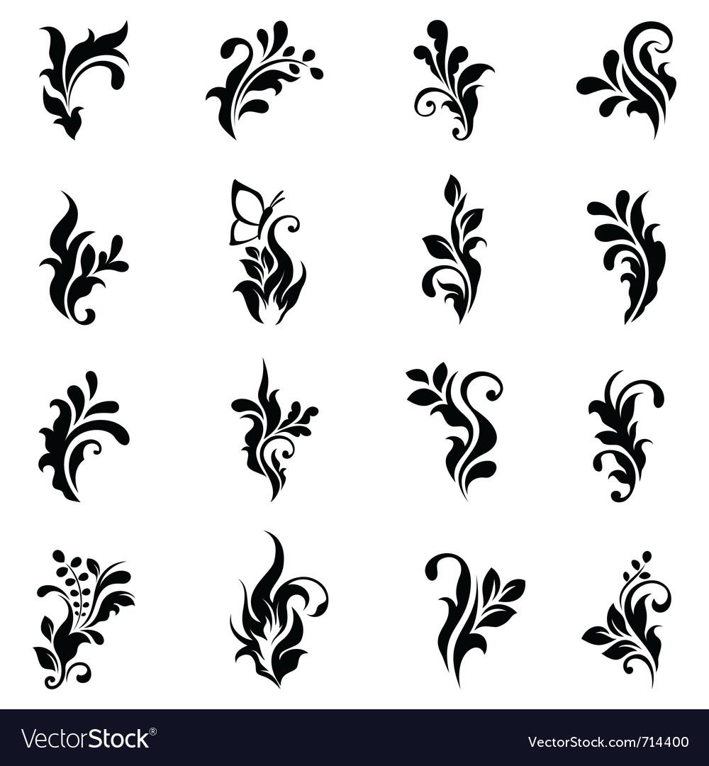 swirly design elements 2 royalty free vector image  vectorstock