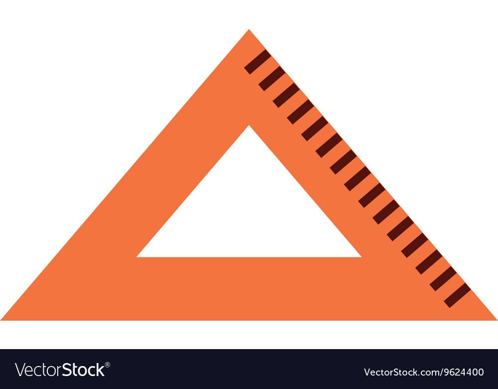 Triangle rule isolated icon design