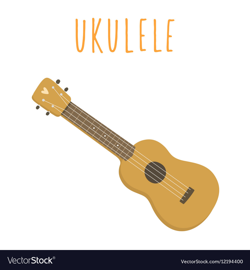 Ukulele hawaiian guitar Isolated on white