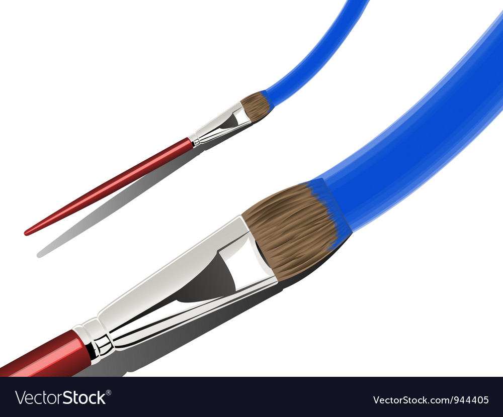 Artist Paint Brush vector image