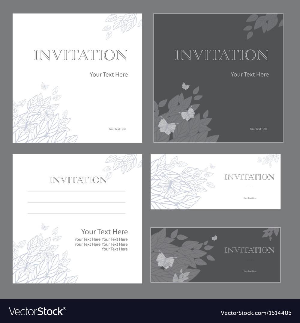Decorative invitations