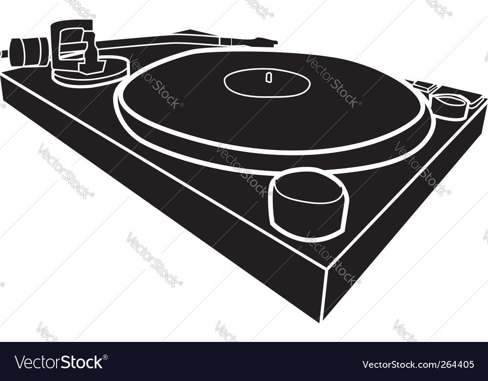 DJ decks vector image