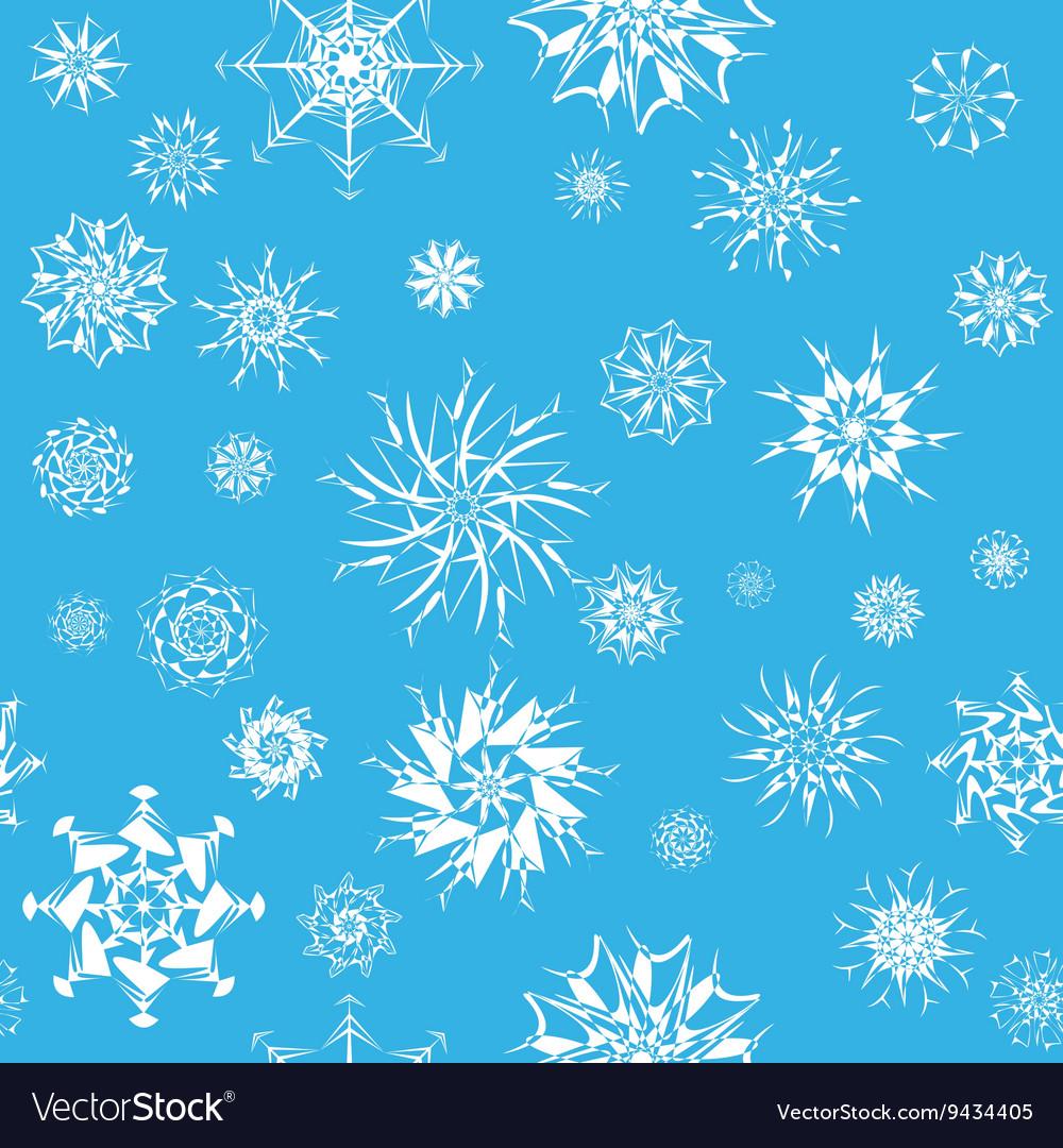 Elegant white snowflakes of various styles