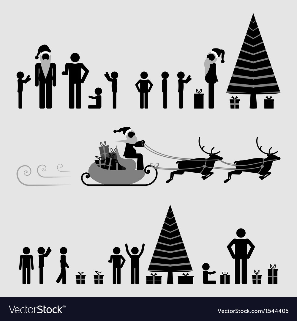 Santa reindeers and joyful gifts