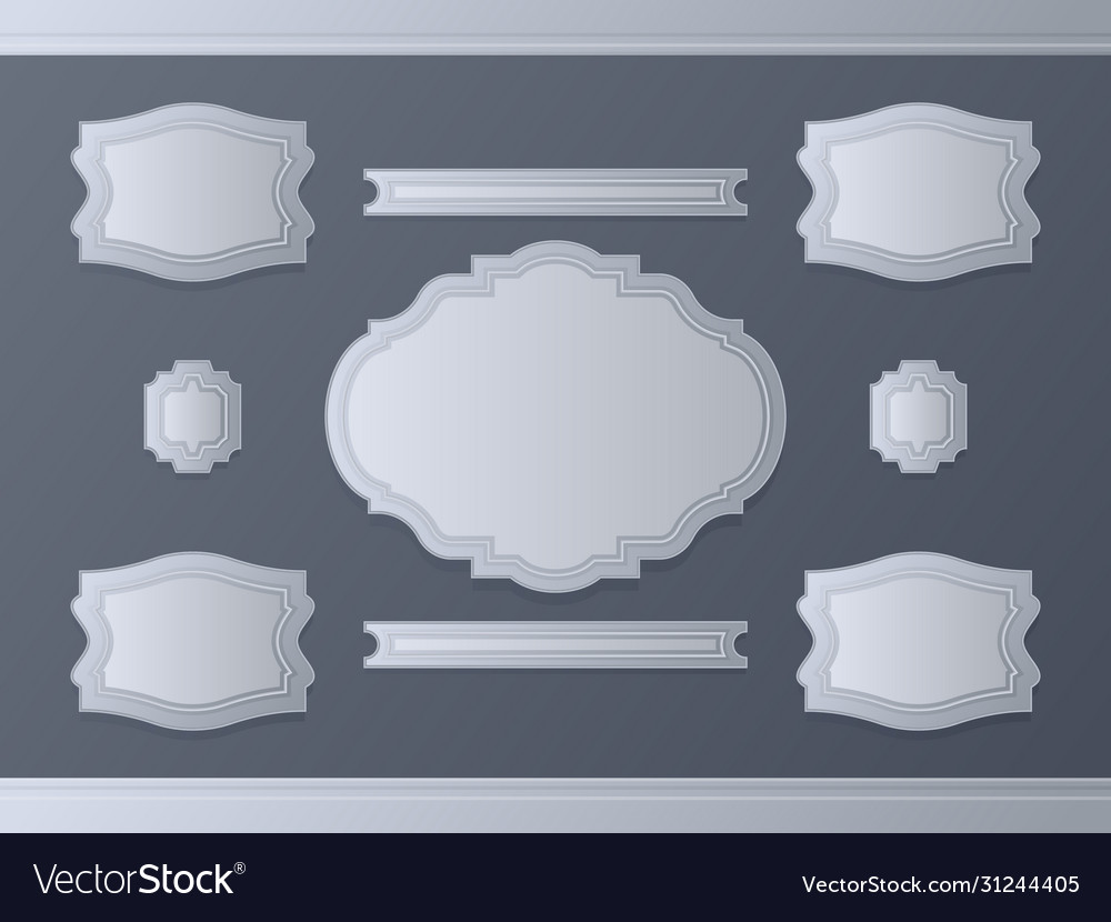 Victorian frames calligraphic design elements