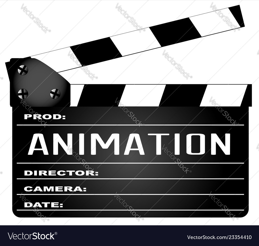 Animation clapperboard