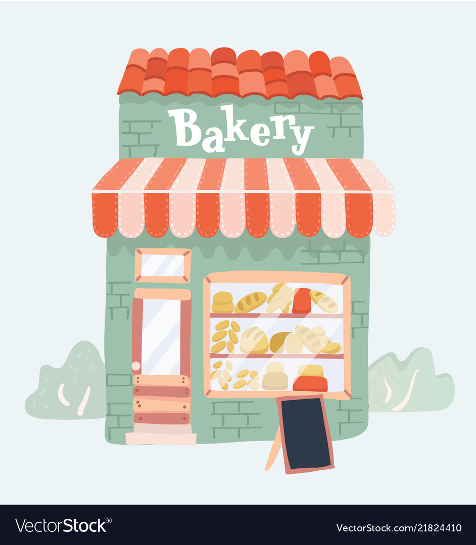 Bakery shop front view