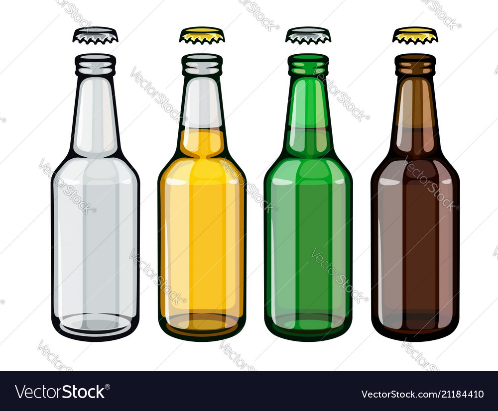 Beer bottles set of empty