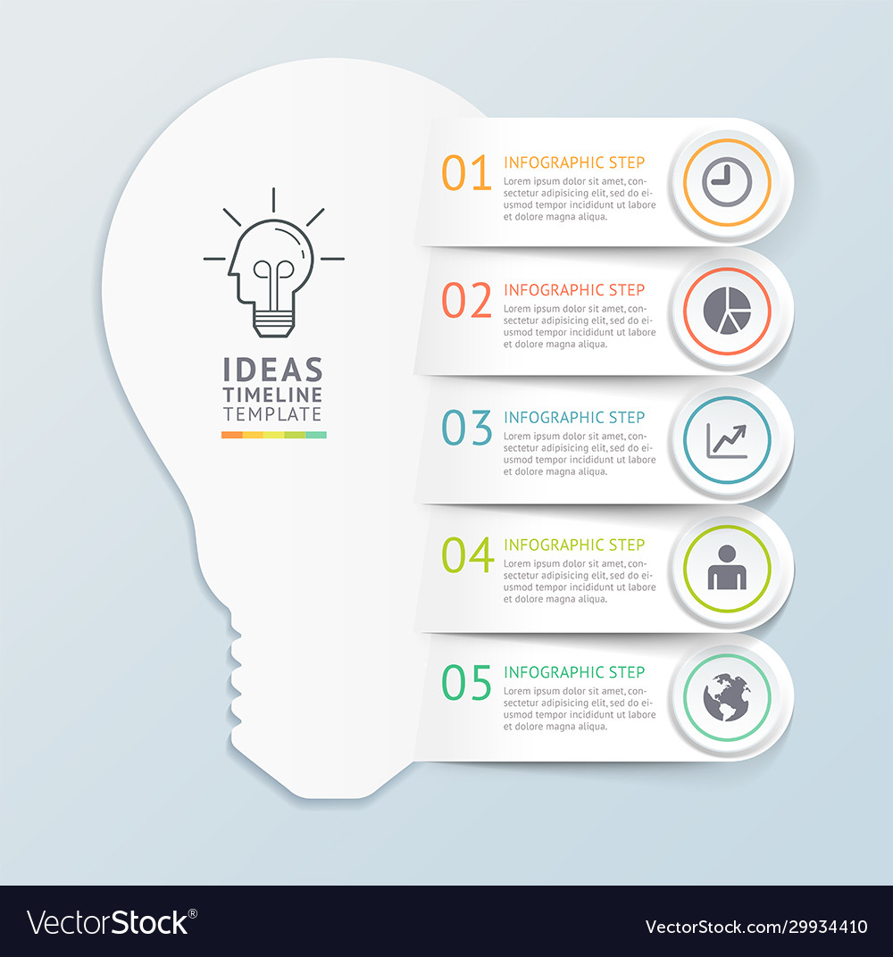 Business ideas infographics template background
