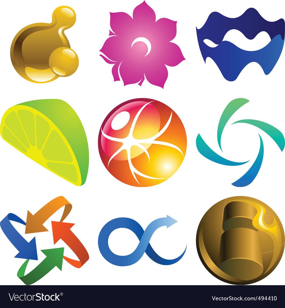 Graphic logo elements