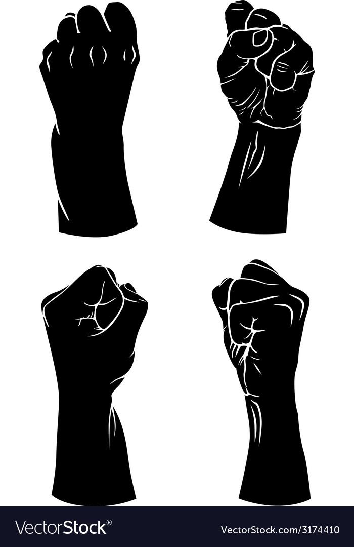 hands fist royalty free vector image vectorstock rh vectorstock com first vector in lyme disease fist vector free