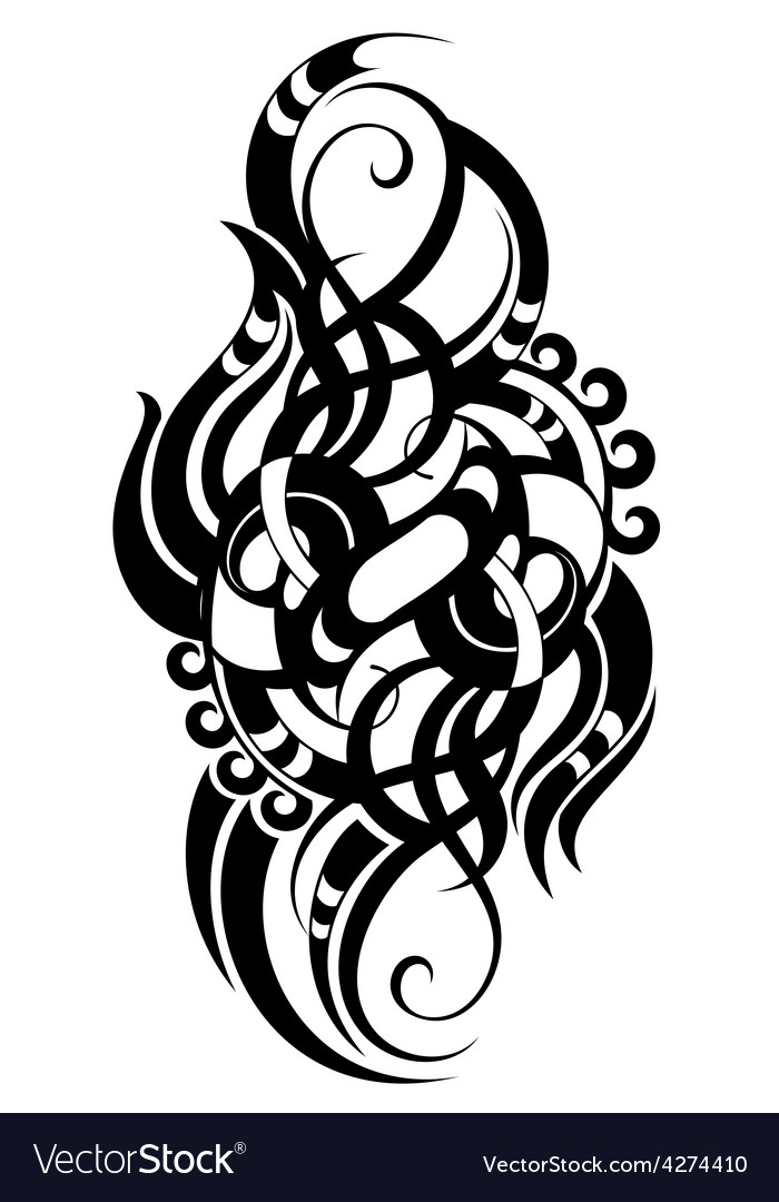 Maori styled tattoo pattern vector image