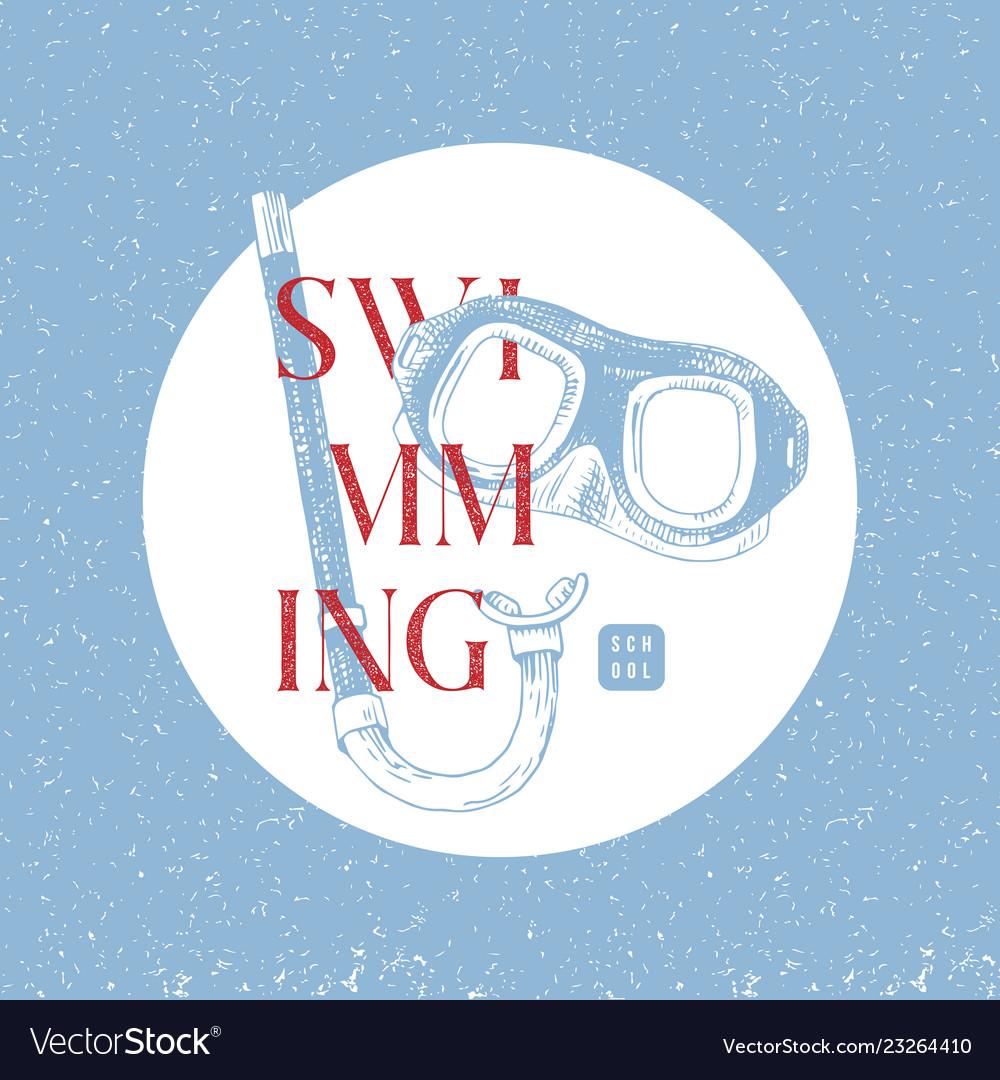 Swimming school logo