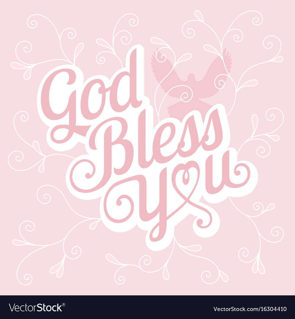 Typography God Bless You Royalty Free Vector Image