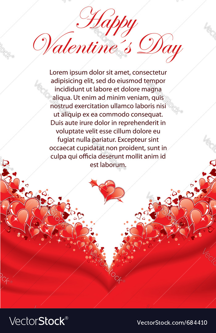 Valentines day greeting card royalty free vector image valentines day greeting card vector image m4hsunfo