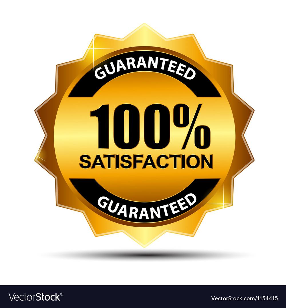 fe645839b398 100 satisfaction guaranteed label Royalty Free Vector Image