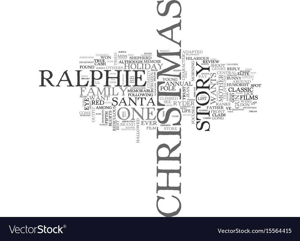 A Christmas Story Logo Vector.A Christmas Story Dvd Review Text Word Cloud