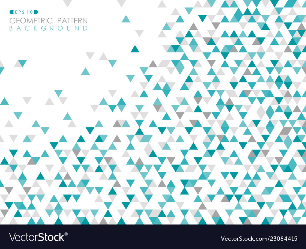 Abstract of blue triangle geometric pattern cover