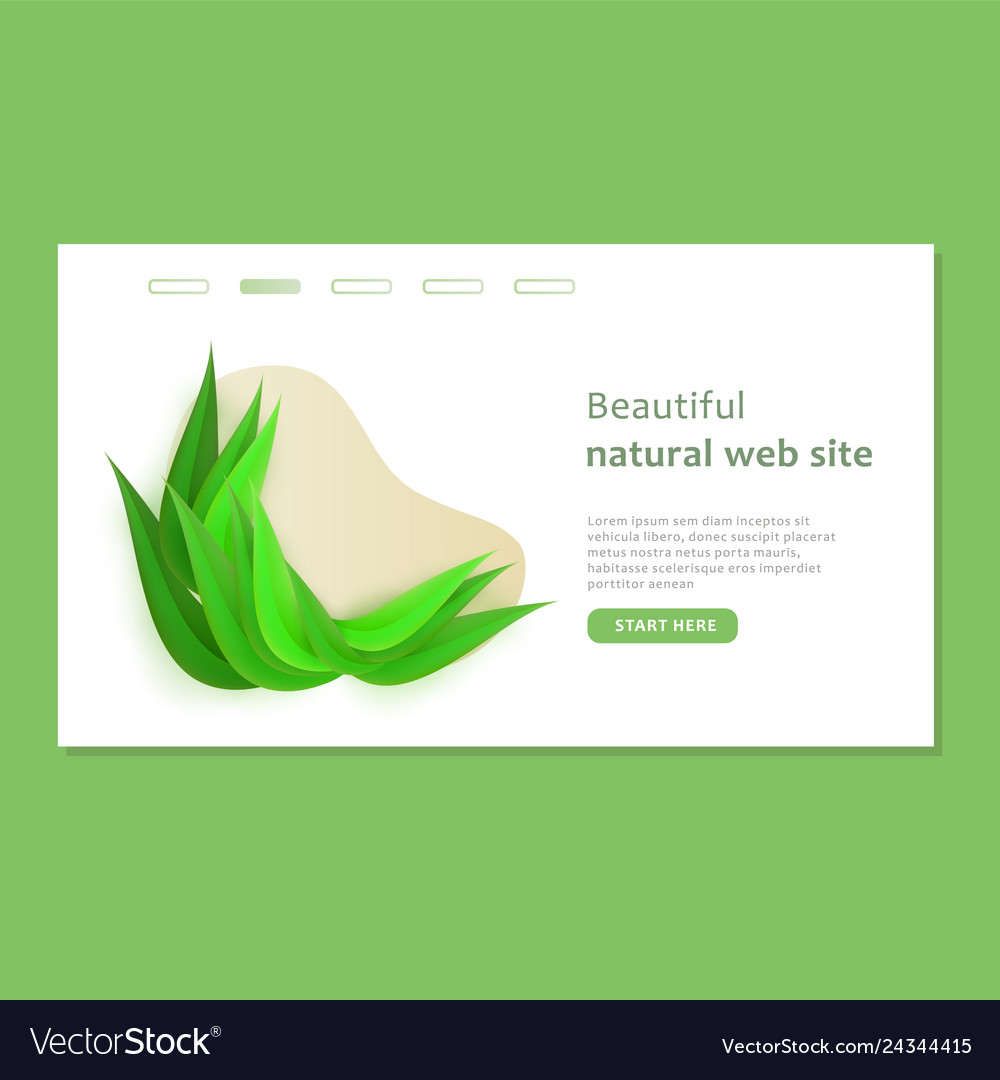 Beautiful landing page with shape and bio design