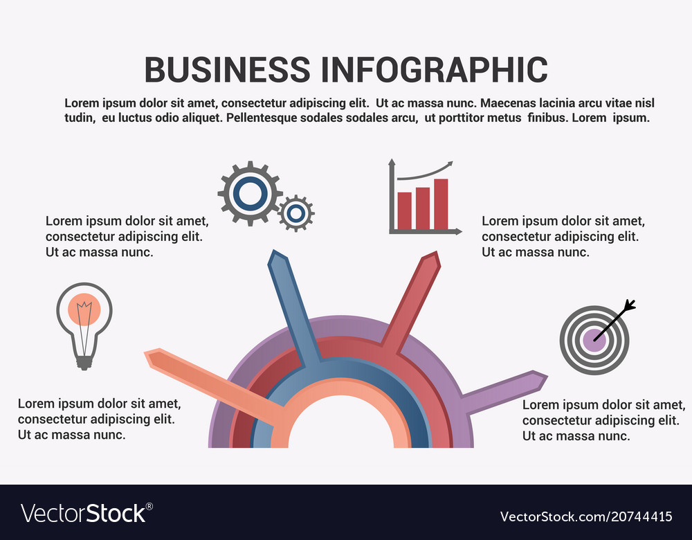Business infographic template