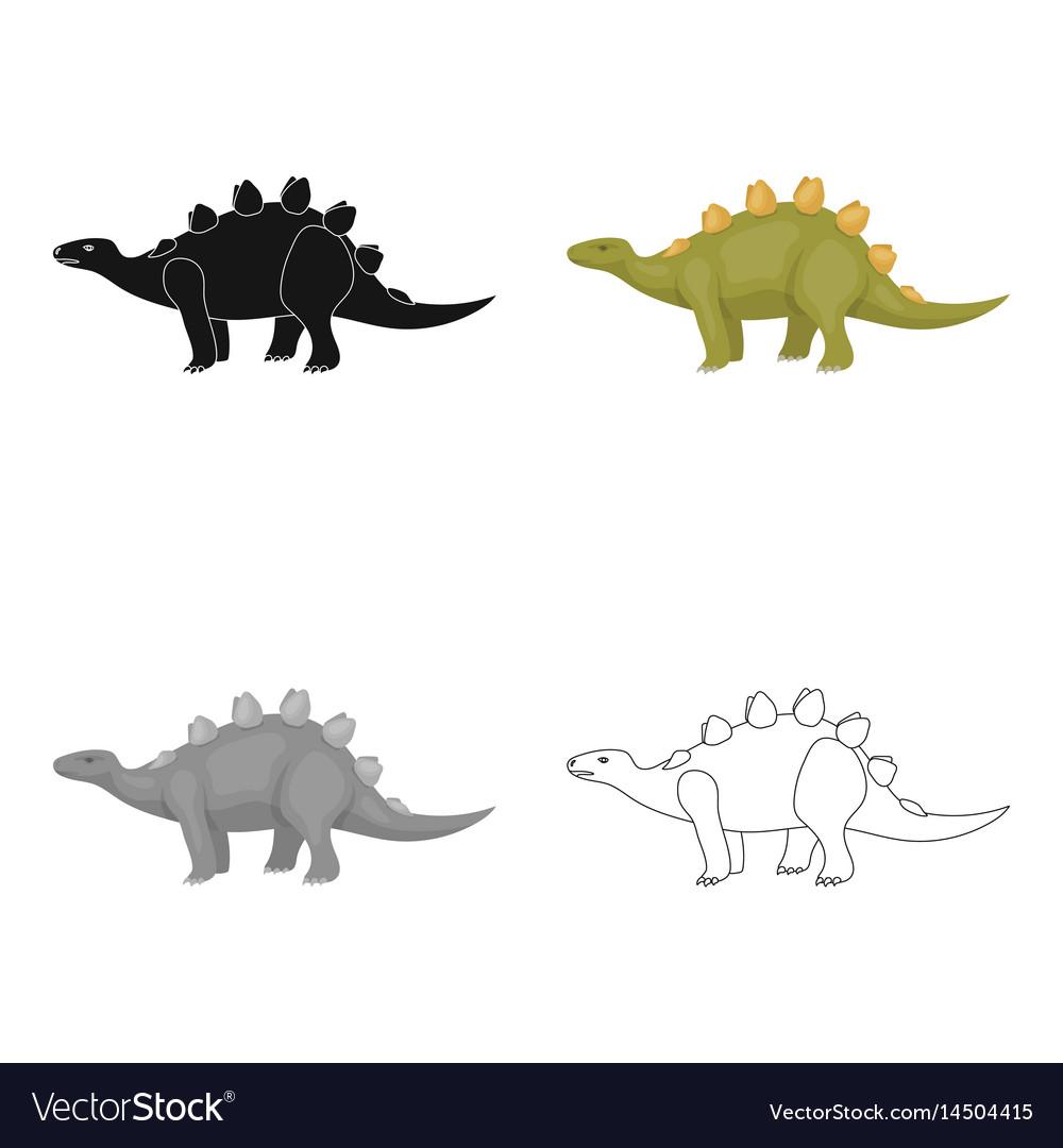 Dinosaur stegosaurus icon in cartoon style