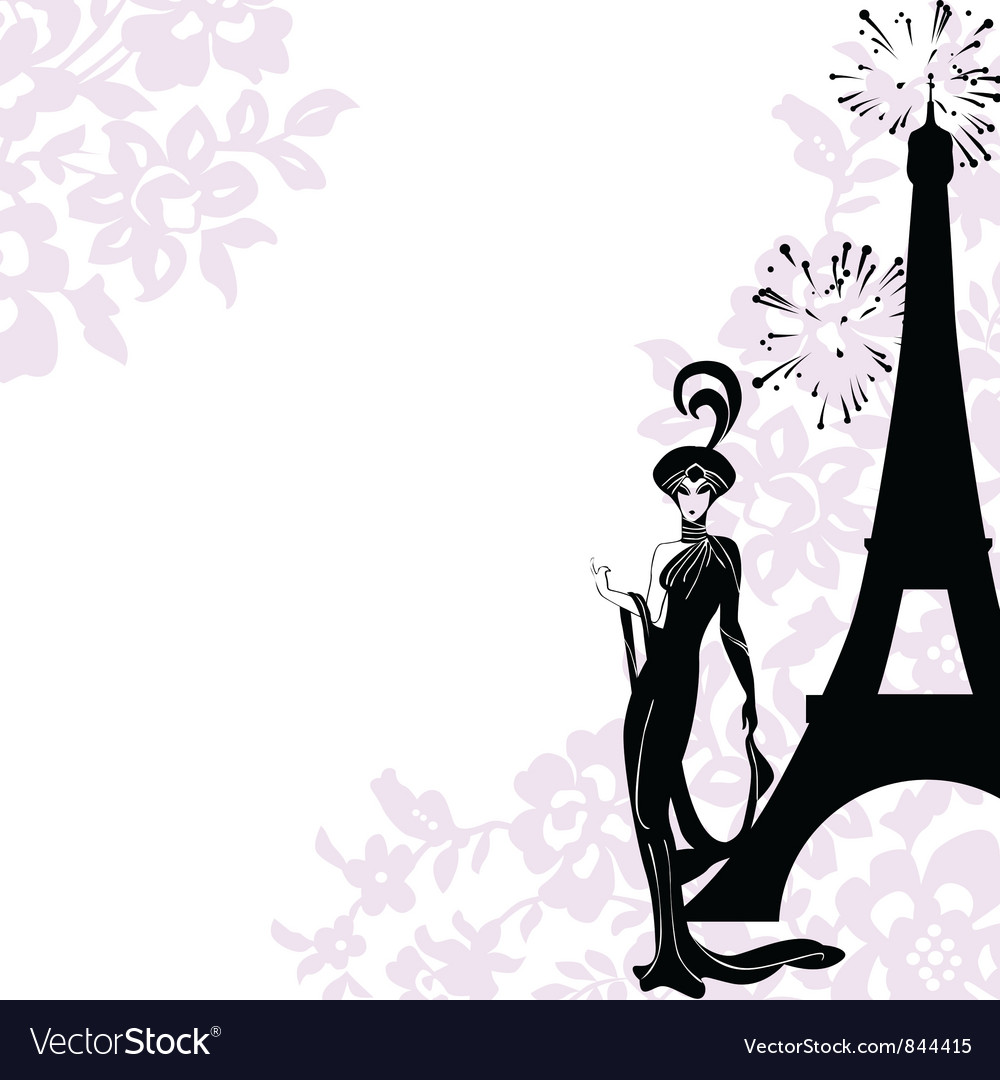 Frame fashion beauty Paris Royalty Free Vector Image