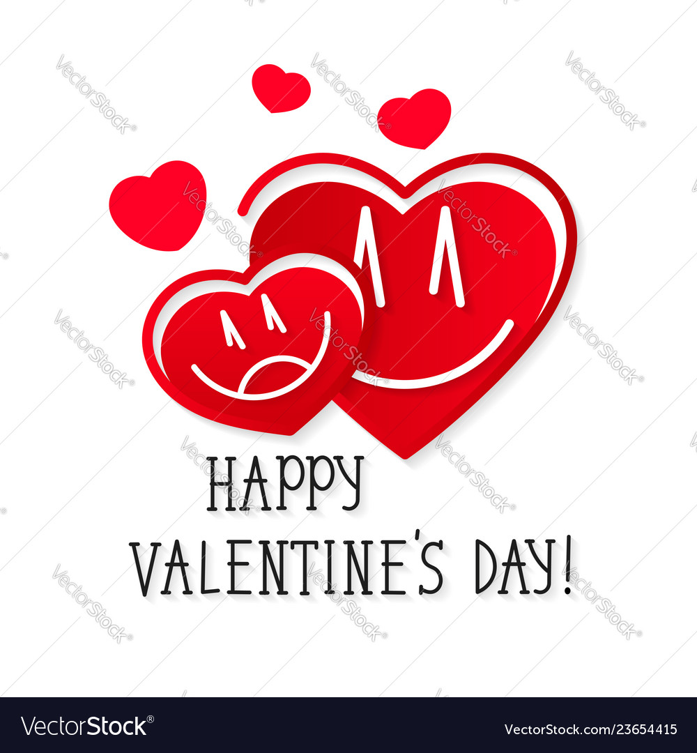 Hearts love happy valentine s day greeting card