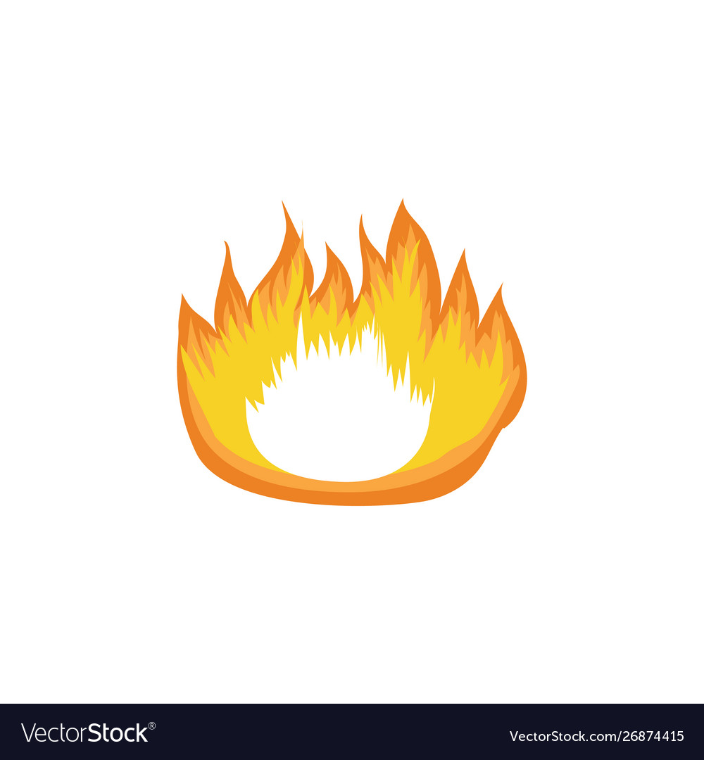 Icon hot fire flame campfire and bonfire element