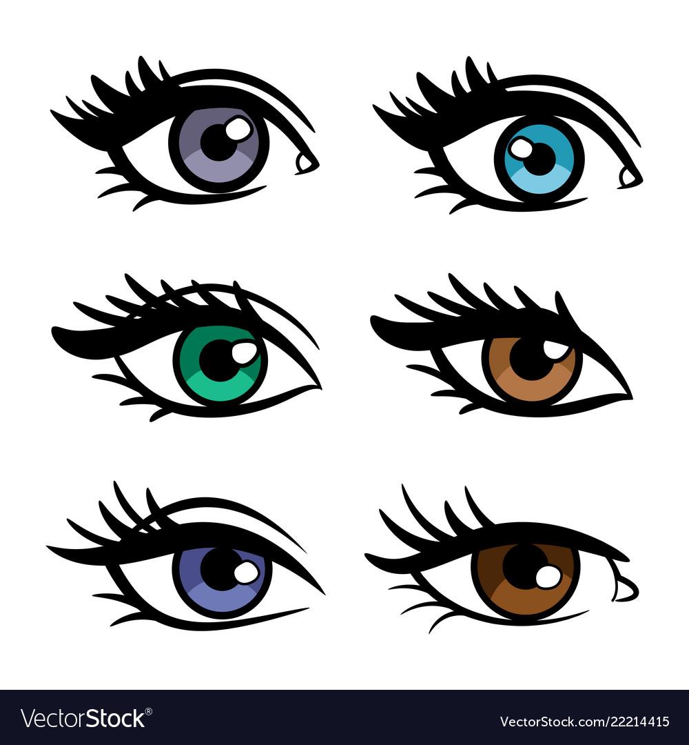 Popular colors female eyes