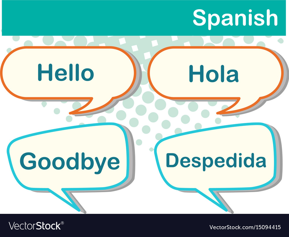 Speech bubbles with spanish words