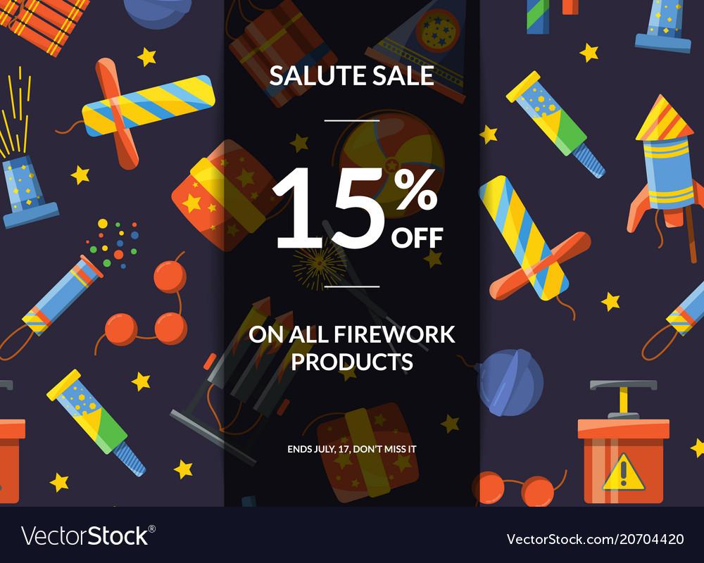 Cartoon pyrotechnics sale background