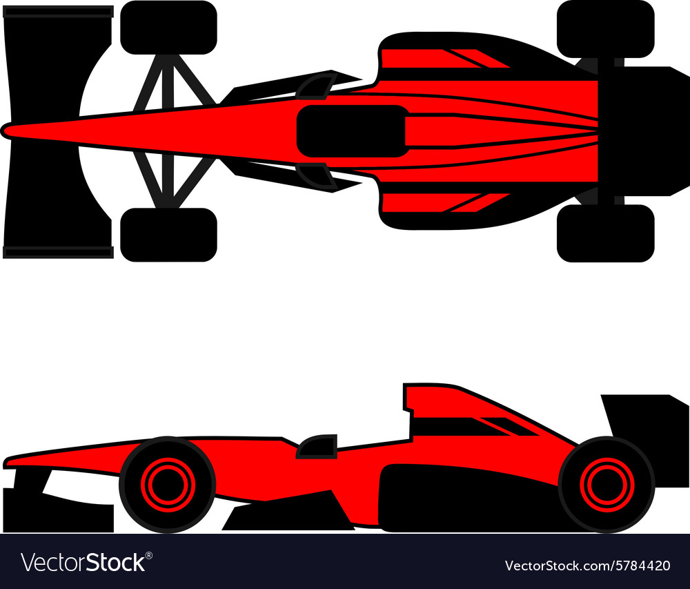Champion car vector image