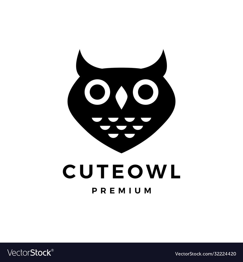 Cute owl logo icon