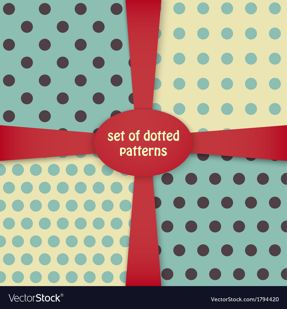 Four dotted colored patterns