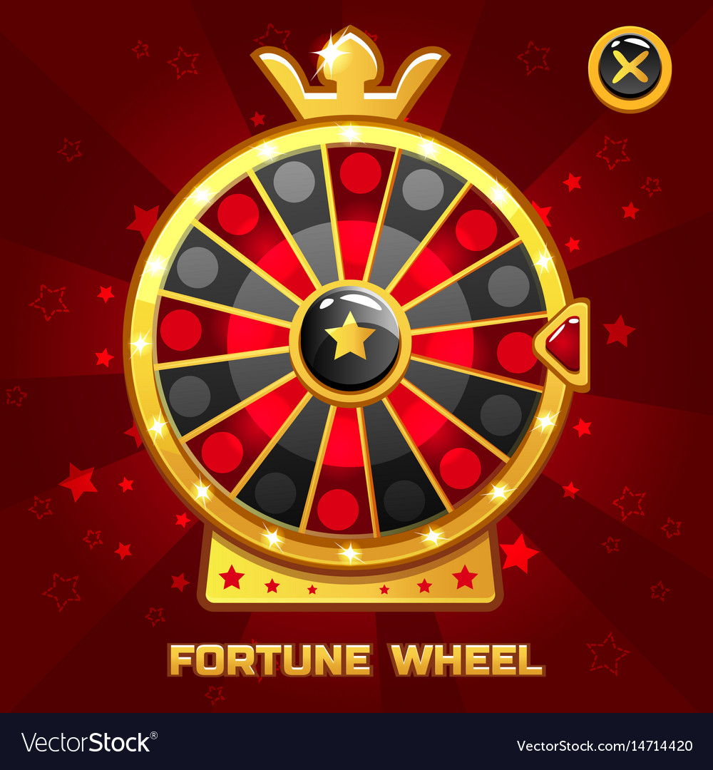 Gold fortune wheel for ui game