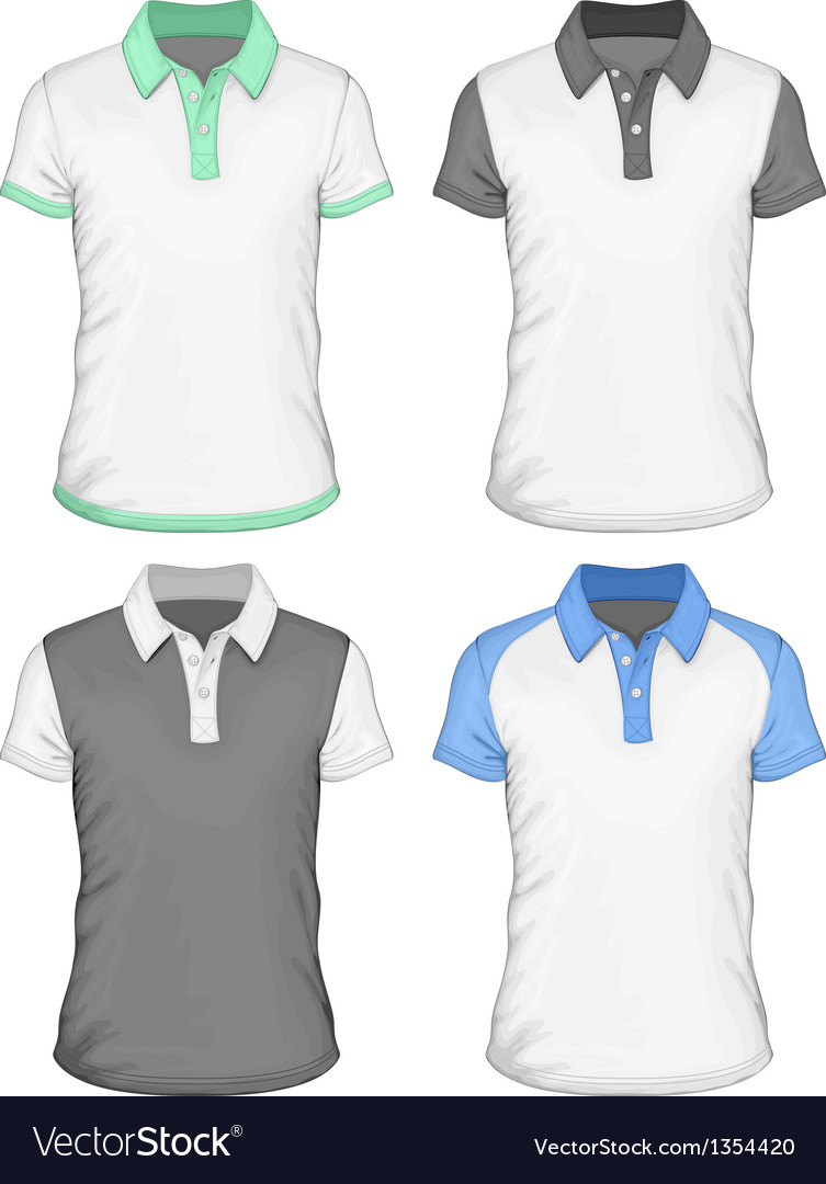 Mens Polo Shirt Design Templates Royalty Free Vector Image