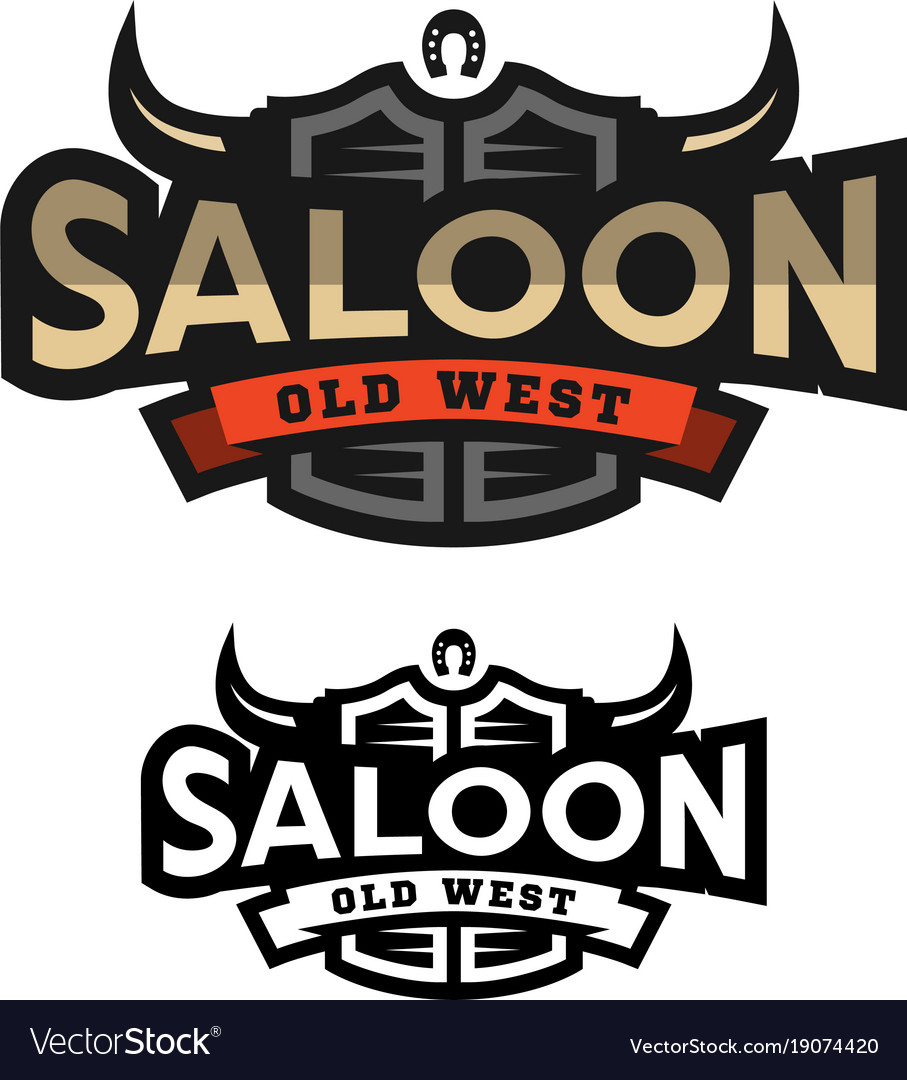 Saloon tavern wild west logo emblem