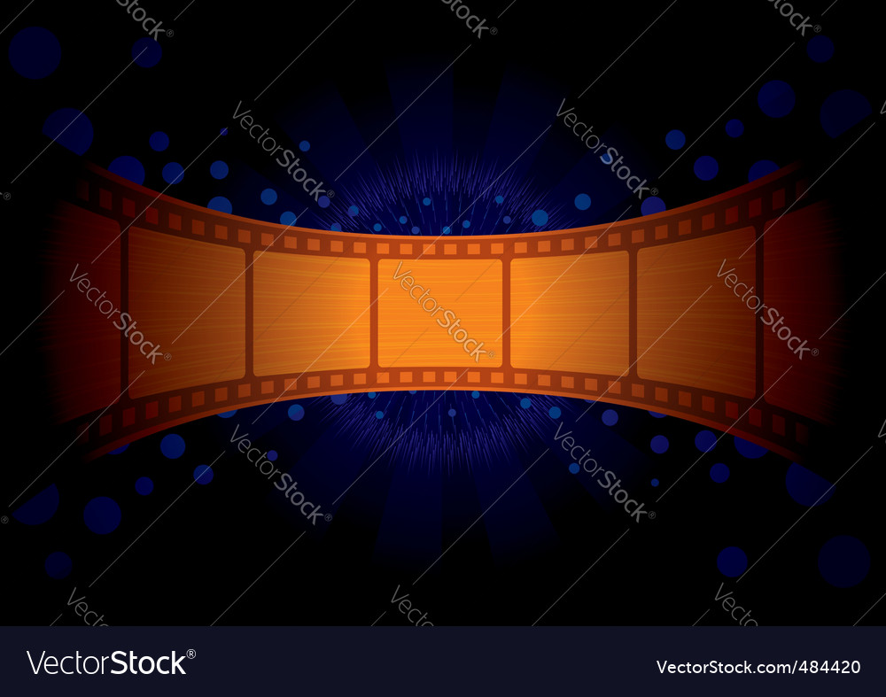 Wallpaper with gold film vector image