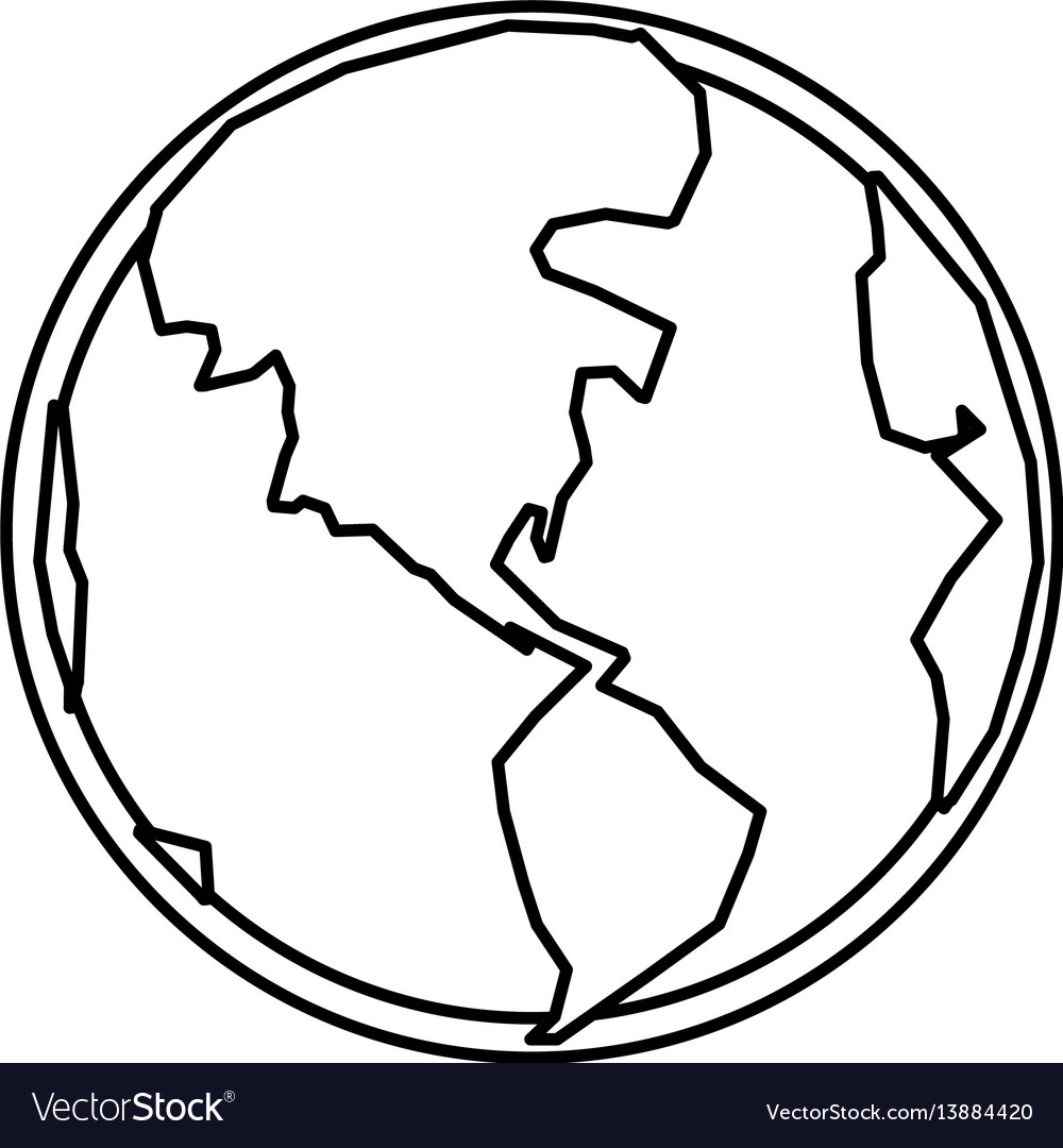 World earth planet vector image