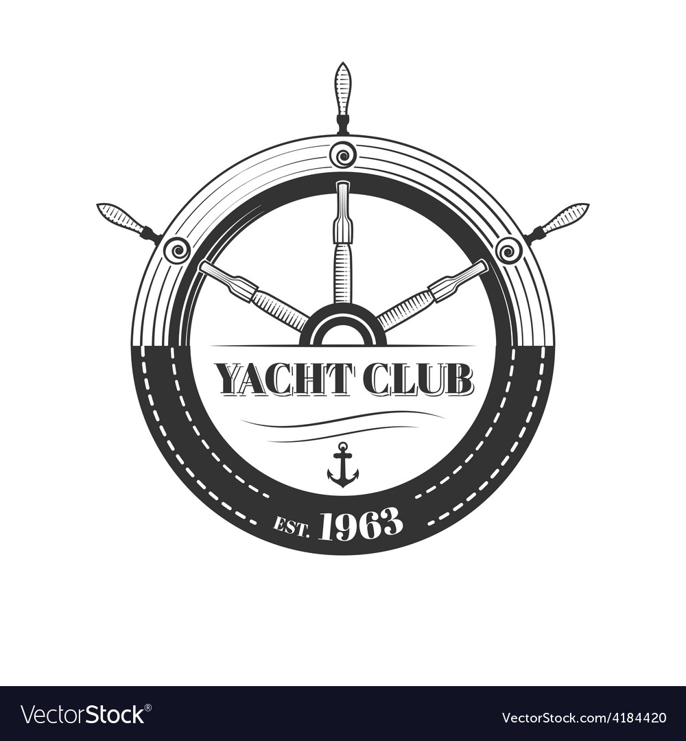 yacht club logo royalty free vector image vectorstock rh vectorstock com yacht club monaco logo yacht club monaco logo