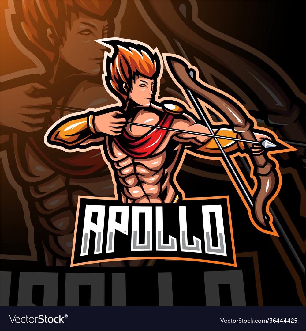 Apolo esport mascot logo design