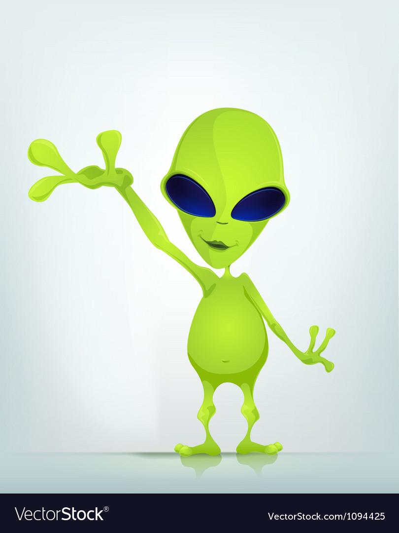 Cartoon Character ALIEN 037 CS5 vector image