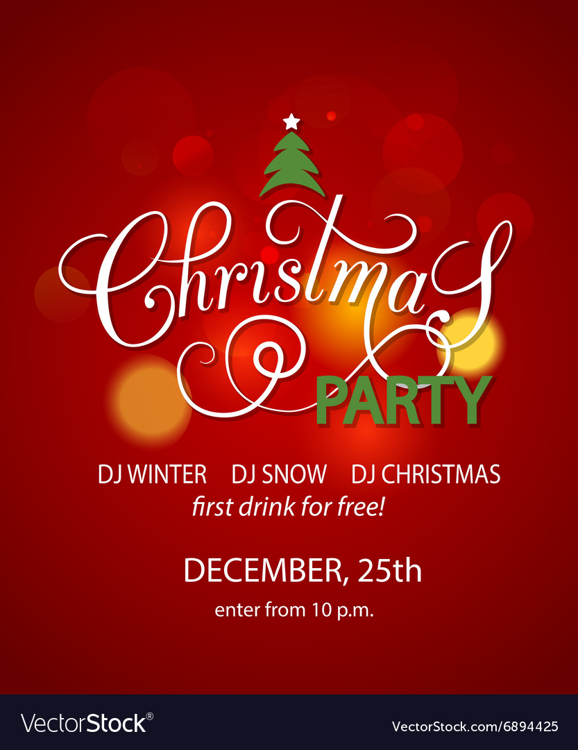 Christmas Background Design.Christmas Party Background Design Template
